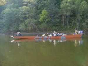 Dszd_Bikin River, Yakov Trophymovich guiding tourists from Japan, September 2006