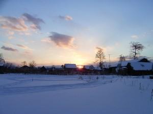 Dszd_Krasny Yar Village Sunset, February 2005
